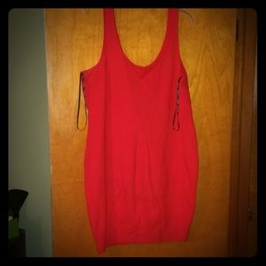 Forever21 Plus Red Tank Bodycon Dress